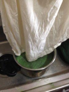タデ藍の生葉染めの方法