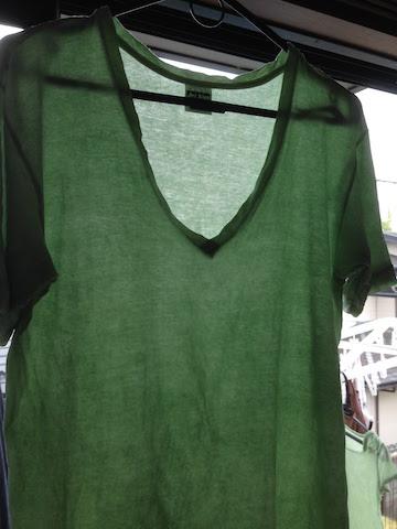 タデ藍の生葉染 Tシャツ