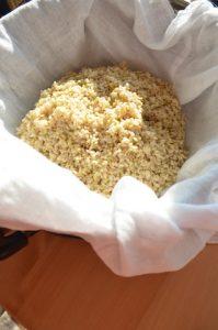 玄米を蒸す