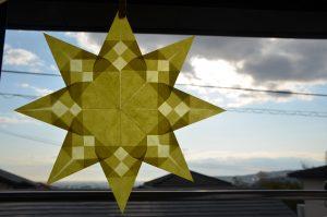 トランスパレント折り紙星