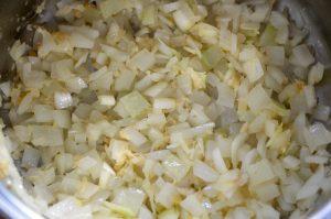 玉葱炒める
