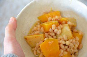 白あずきかぼちゃレシピ
