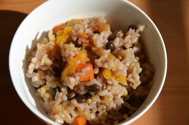 黒千石大豆の炊き込みご飯