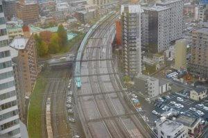エルソーラから見える新幹線