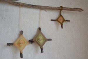 クロスウィービング(蜘蛛の巣編み) 編み方