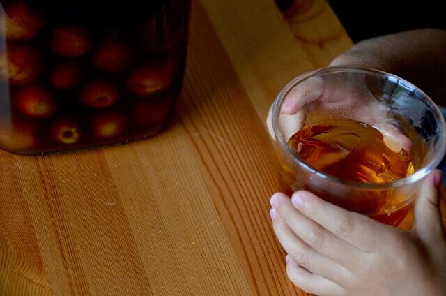 梅酢シロップと手