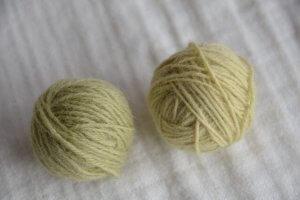 よもぎ染めの毛糸