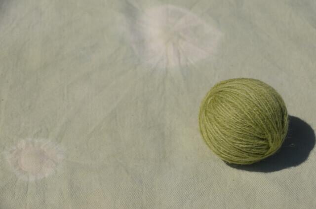 よもぎ染め 毛糸