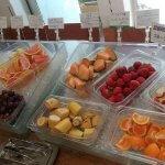 器に盛られた数種類のフルーツ