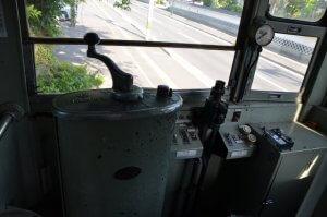 仙台市電 運転席