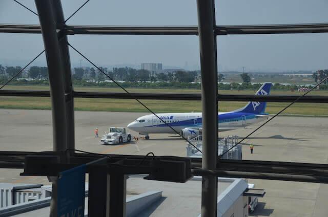 仙台空港 ロイヤルコーヒーショップから見える景色