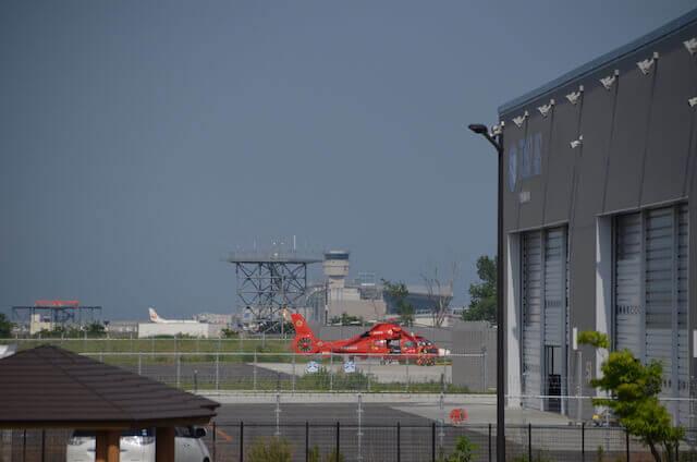 仙台空港臨空公園 防災ヘリコプター