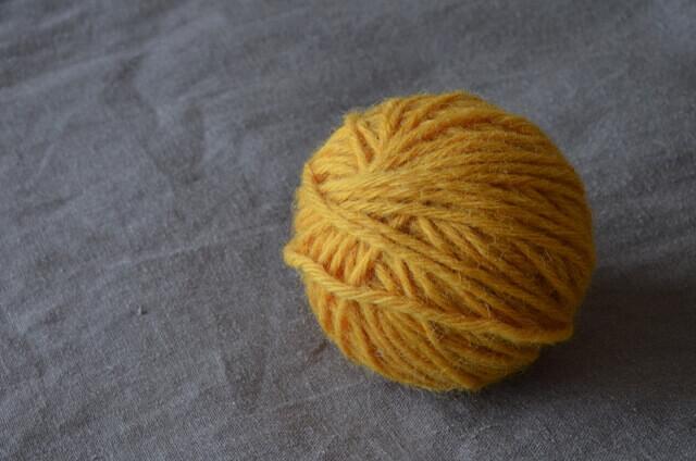 玉ねぎ染め毛糸