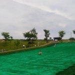 人工芝滑り 万葉クリエイトパーク