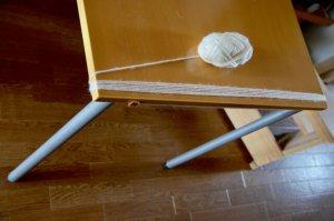 毛糸の枷の作り方 行程1