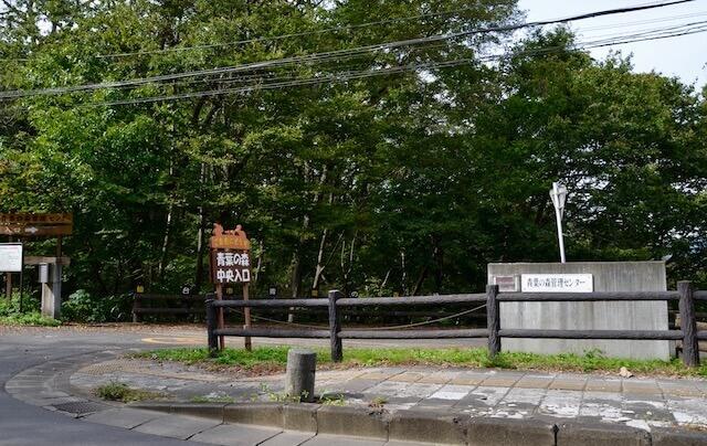 青葉の森緑地入り口