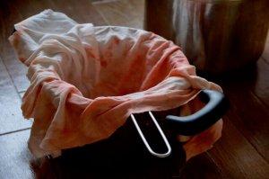ザル・濾し布・鍋