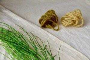スギナで染めた毛糸