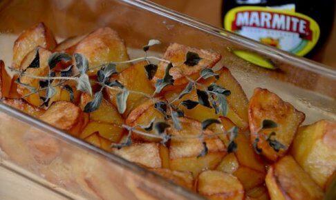 ベークドマーマイトポテトとマーマイト